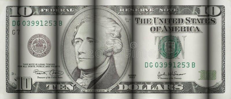 Dieci dollari di Bill immagini stock libere da diritti