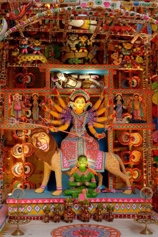 Dieci hanno passato l'idolo di Durga immagine stock