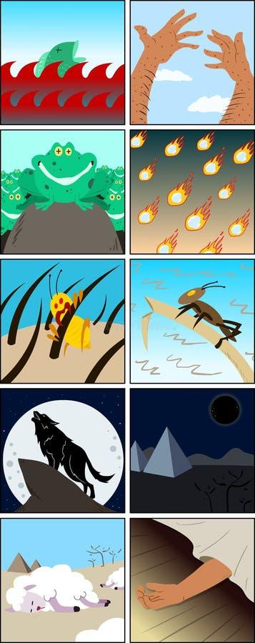 Dieci pesti dal pesach royalty illustrazione gratis