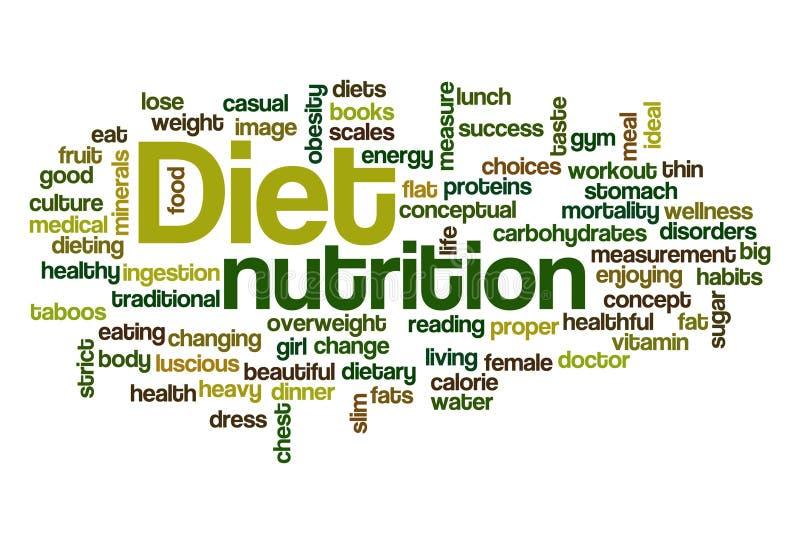 Dieet - de Wolk van Word vector illustratie