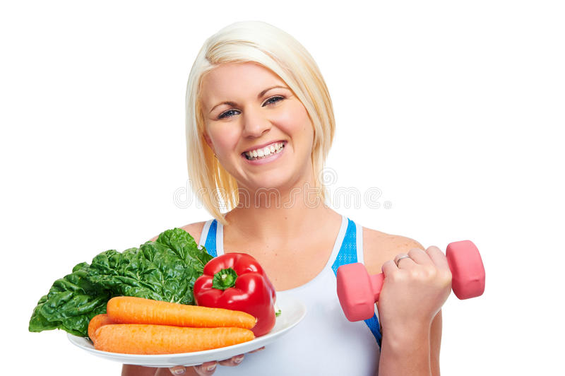 Dieet en oefening royalty-vrije stock foto