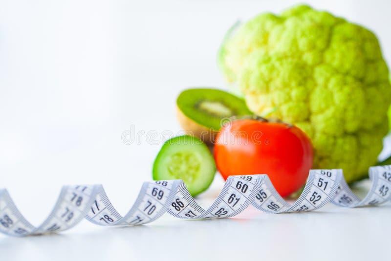 Dieet Geschiktheid en het gezonde concept van het voedseldieet Uitgebalanceerd dieet met stock foto's
