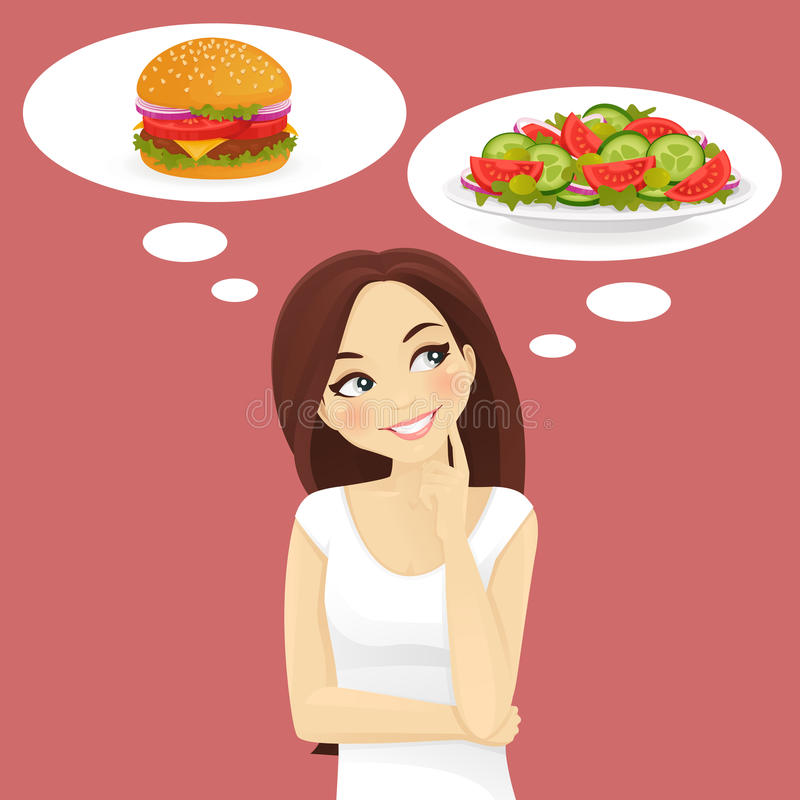 Dieet Gezond voedsel vector illustratie