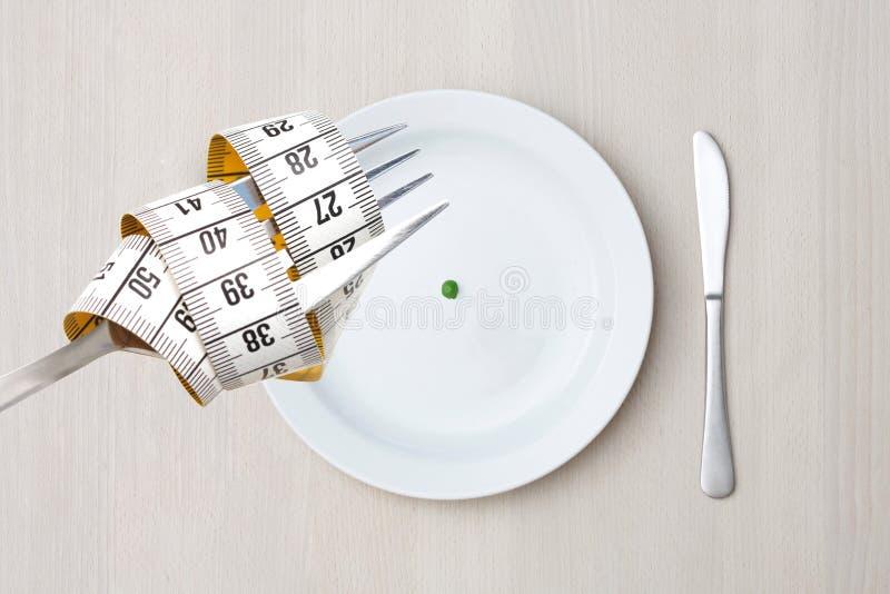 Dieet op een plaat stock foto