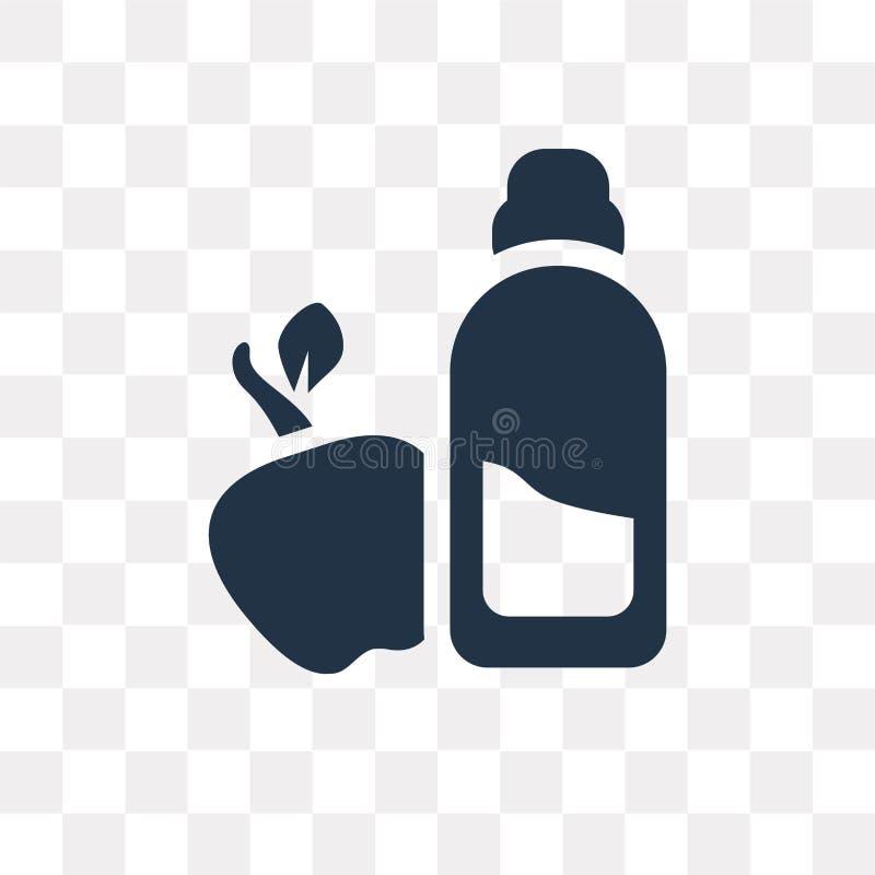 Dieet vectordiepictogram op transparante achtergrond, Dieet wordt geïsoleerd trans stock illustratie