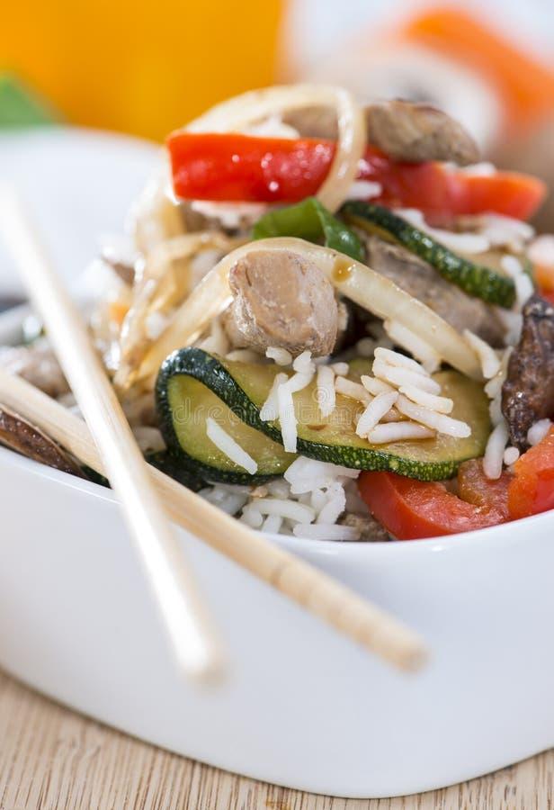 Dieetvoedsel (Rijst en Groenten) royalty-vrije stock fotografie