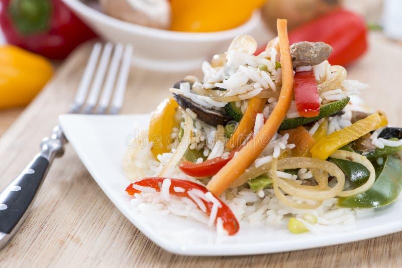 Dieetvoedsel (Rijst en Groenten) royalty-vrije stock foto's