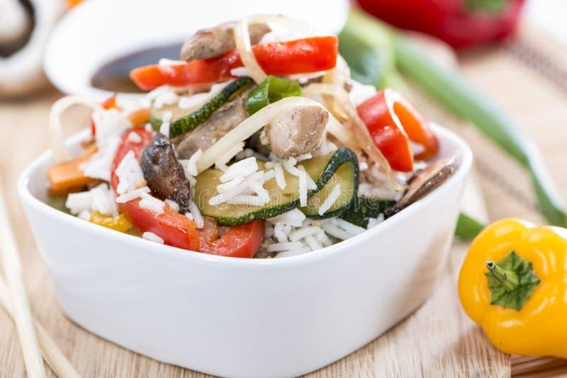 Dieetvoedsel (Rijst en Groenten) stock fotografie