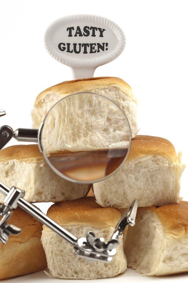 Dieetwaarschuwing of gluten/tarweallergiewaarschuwing royalty-vrije stock afbeelding