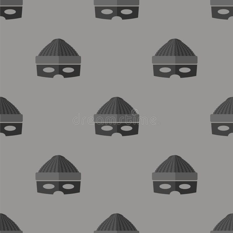 Dief Icon Seamless Pattern royalty-vrije illustratie
