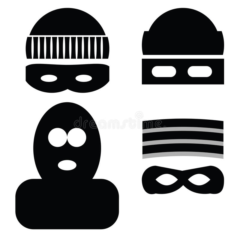 Dief Icons royalty-vrije illustratie