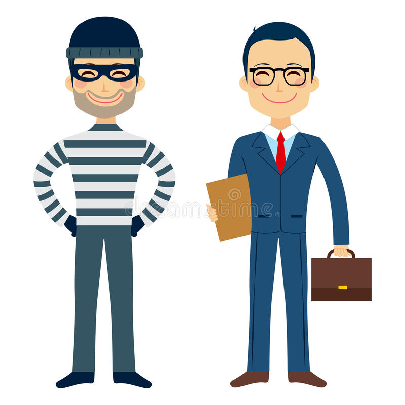 Dief And Lawyer vector illustratie