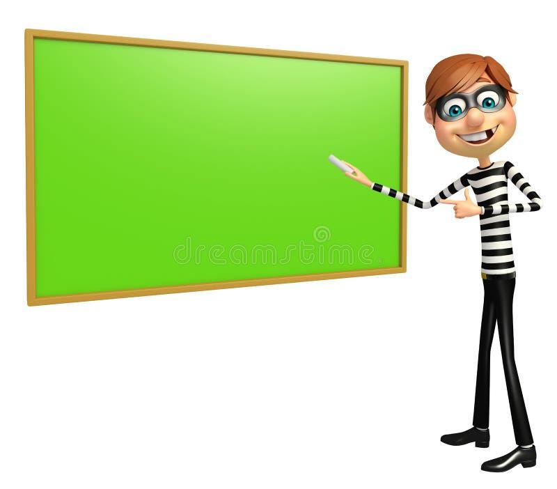 Dief met Groene raad vector illustratie
