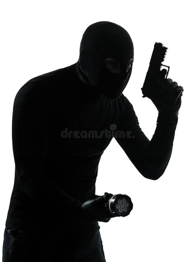 Dief misdadige terrorist stock afbeeldingen
