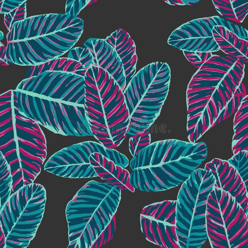 Dieffenbachiablatt-Musterdesign mit Mehrfarbenmuster in der Wiederholung stock abbildung