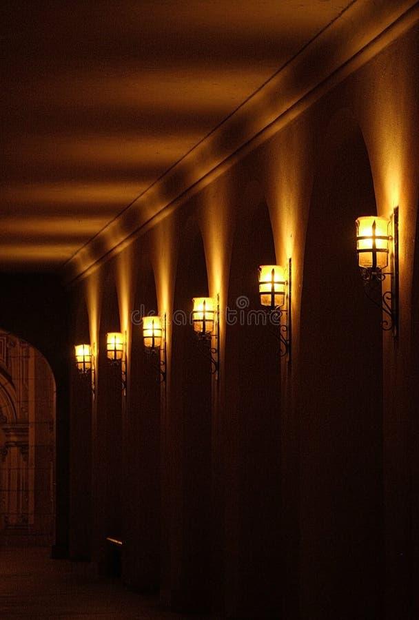 diego освещает ночу san стоковое фото