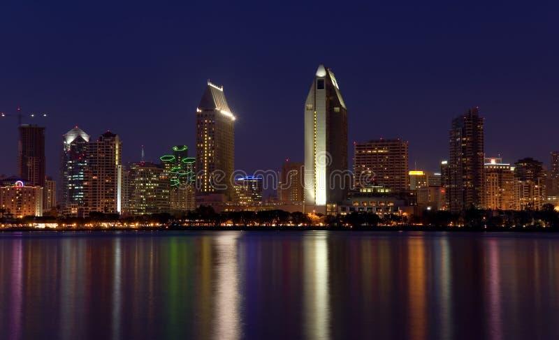 diego освещает панораму san стоковые изображения rf