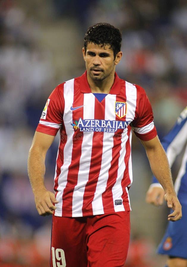 Diego Costa av Atletico Madrid arkivbild