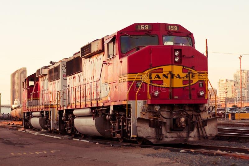diego fe kolejowy San Santa pociąg obraz stock