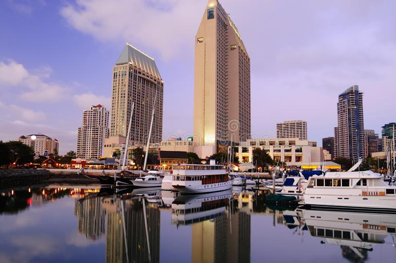 diego i stadens centrum marina san arkivbilder