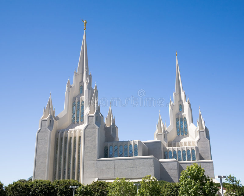 diego ldssan tempel fotografering för bildbyråer
