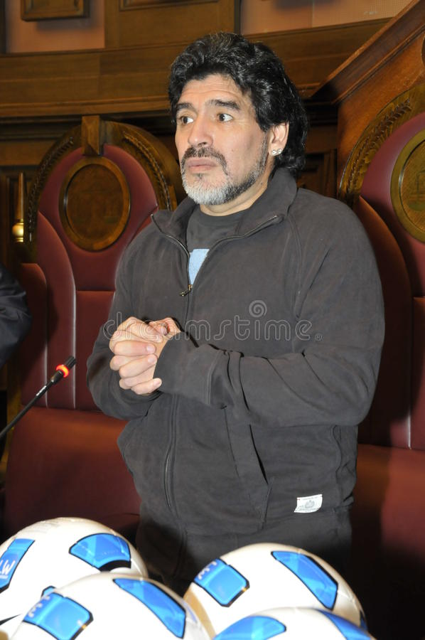 Diego Maradona royalty free stock photos