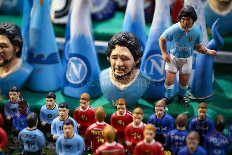 Diego Maradona Miniature in Naples, Italy. Diego Maradona Miniature in Naples City, Italy stock photography
