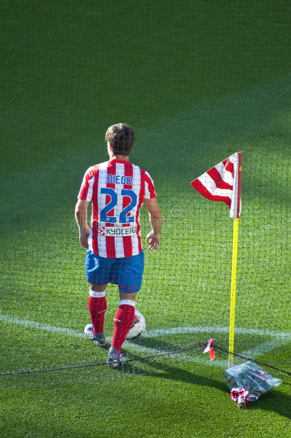 Download Diego Ribas,Atletico De Madrid Player Editorial Photography - Image of turf, player: 21349372