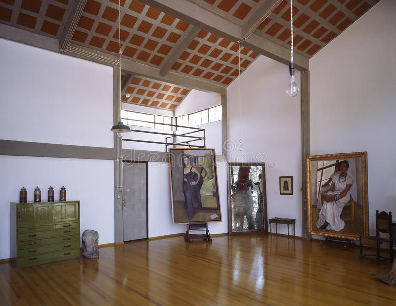 Diego Rivera's studio stock photography