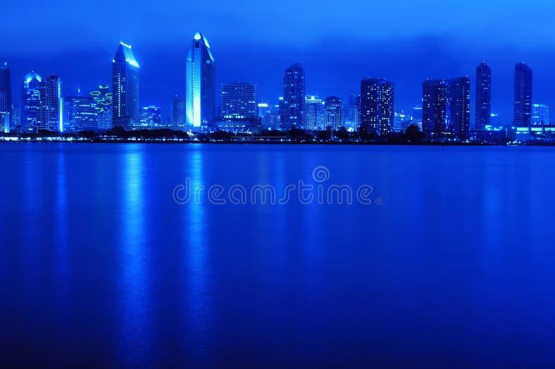 diego san skyline στοκ φωτογραφία