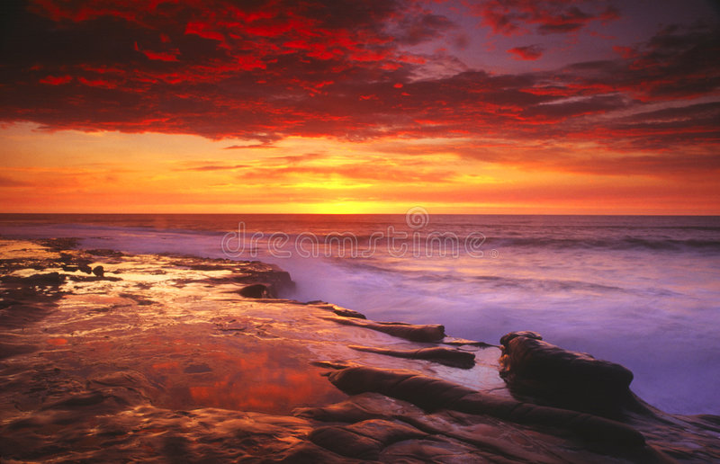 diego san solnedgång royaltyfria bilder