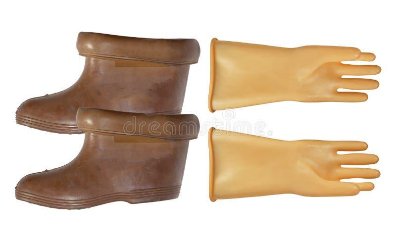 Dielectric handskar och kängor royaltyfria foton