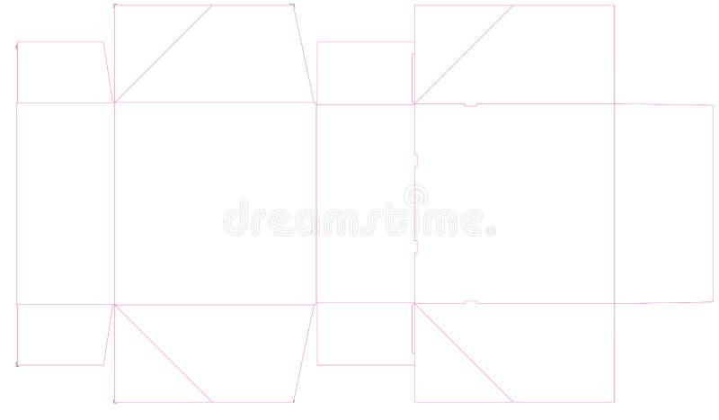 Dieline ha perforato la scatola, supporto del dolce Illustrazione illustrazione di stock