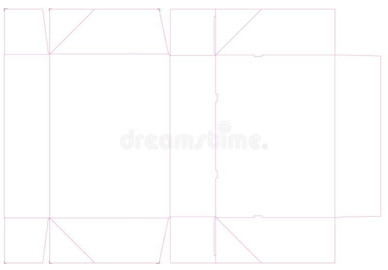 Dieline ha perforato la scatola, supporto del dolce Illustrazione royalty illustrazione gratis