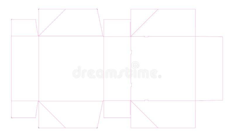 Dieline ha perforato la scatola, supporto del dolce Illustrazione illustrazione vettoriale