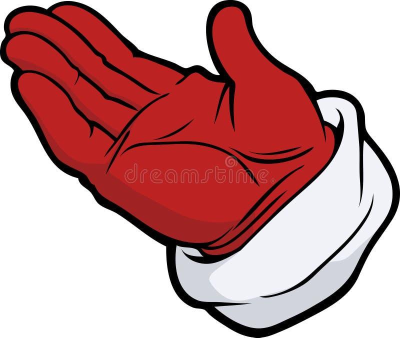 Dien handschoen in stock illustratie