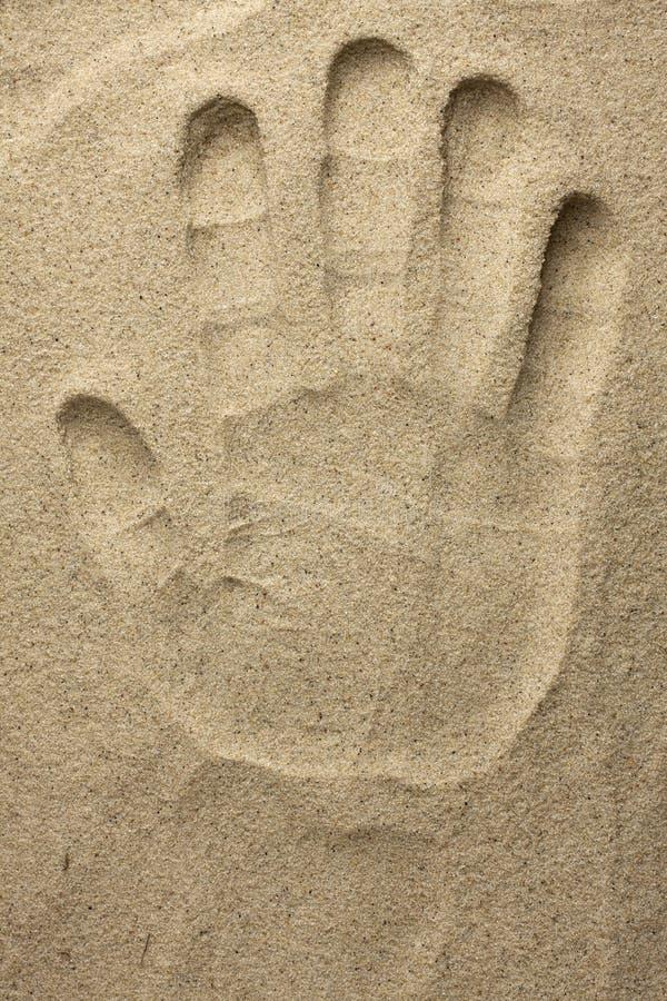 Dien het zand in royalty-vrije stock fotografie