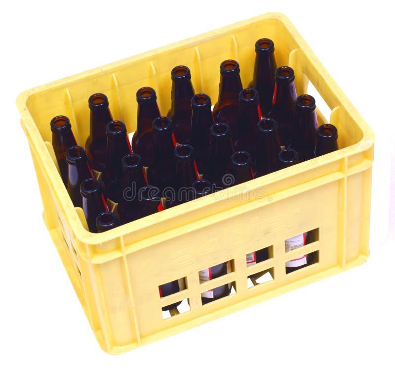 Dienblad met 24 flessen stock fotografie