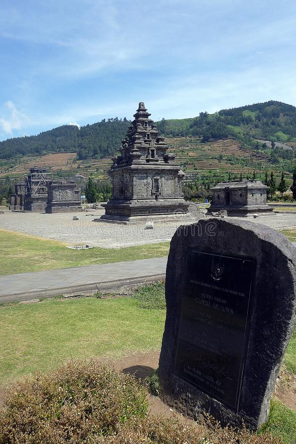 Dieng's indian temple royalty free stock photo