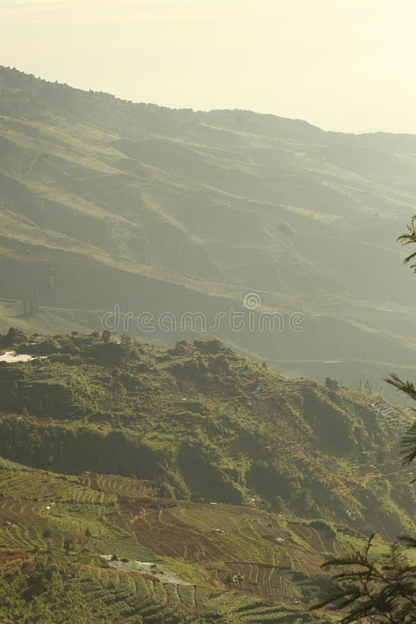Dieng Wonosobo, Central Java, Indonesia stock photography
