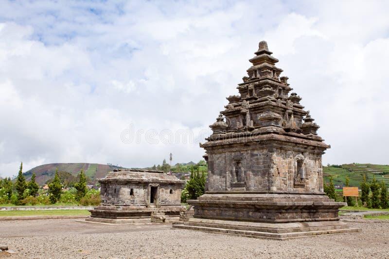 diengindonesia för arjuna komplicerat tempel arkivbilder