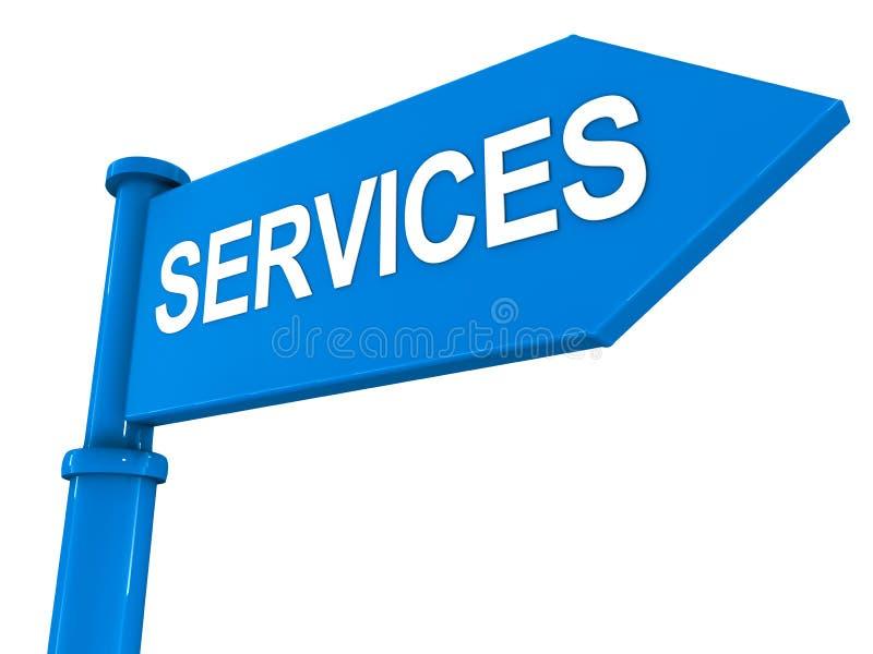 Dienstleistungen stock abbildung
