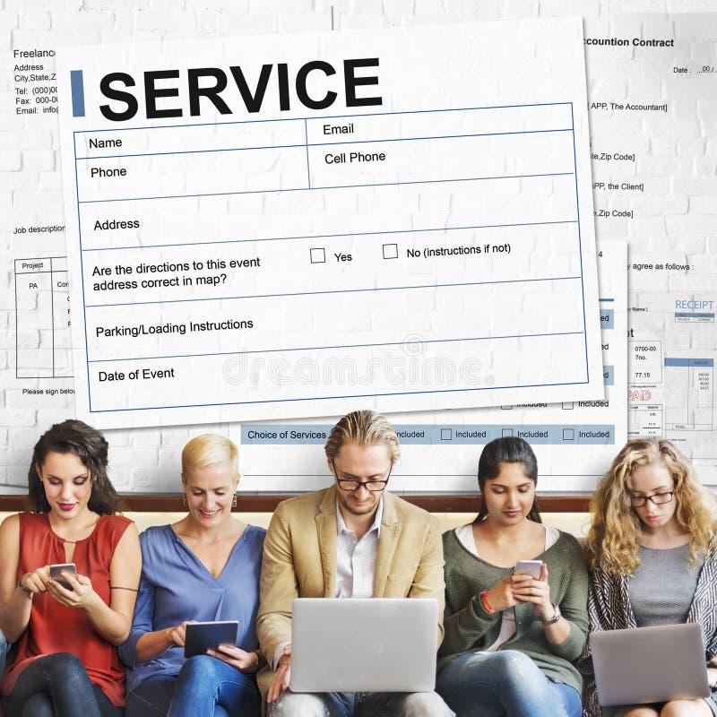 Dienstleistungsvertrag-Vertrags-Rechtsdokument-Konzept lizenzfreie stockfotografie