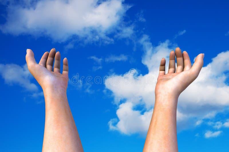 Dient de hemel in stock fotografie