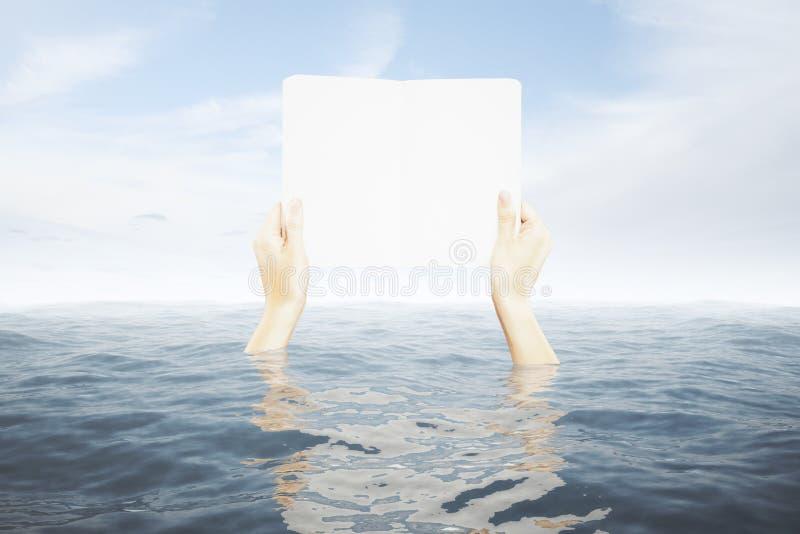 Dient de raad van de waterholding in royalty-vrije stock foto