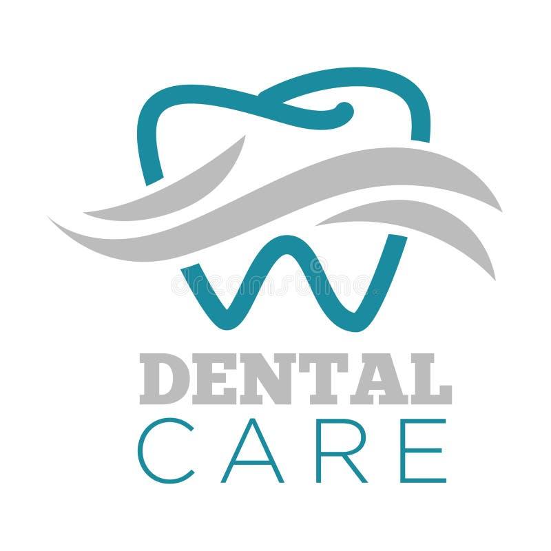 Diente aislado servicio del icono del dentista del cuidado dental libre illustration