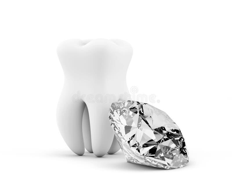 Diente con el diamante ilustración del vector