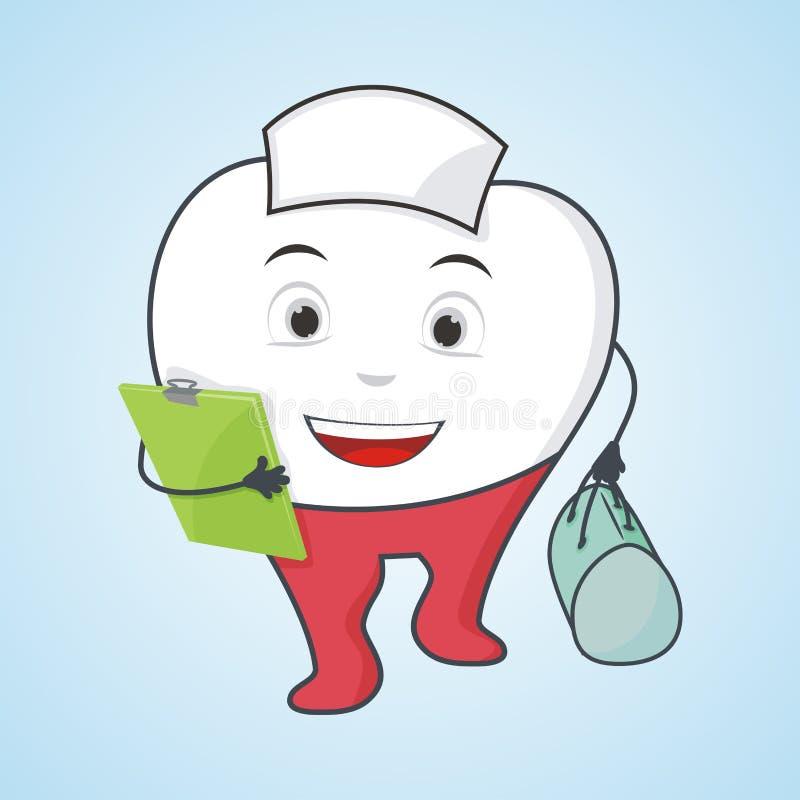 Diente de la enfermera, ejemplo dental del concepto libre illustration