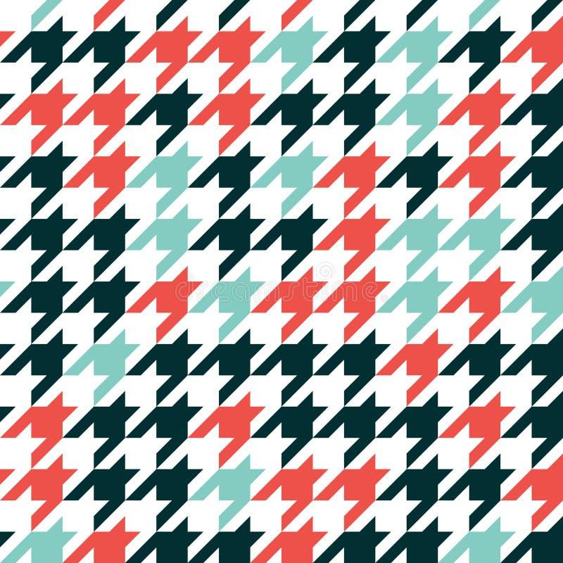 Diente de perros - modelo geométrico retro para la moda de la ropa Mar libre illustration