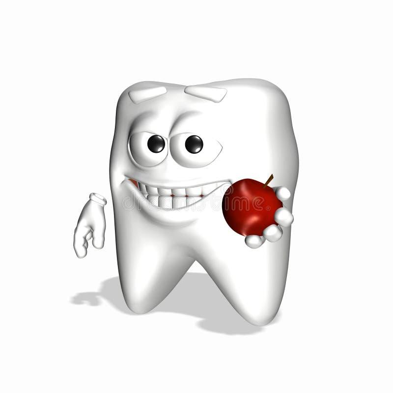 Diente sonriente - cepillo de dientes de la naturaleza ilustración del vector
